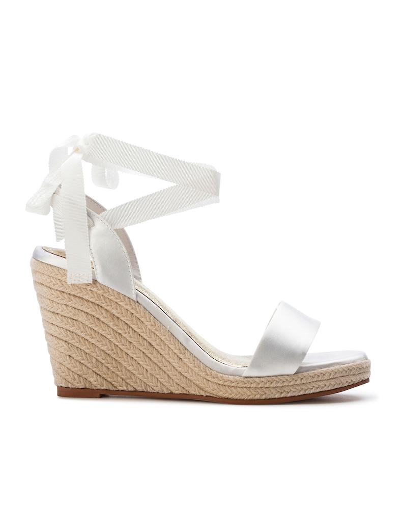 c41817ebdaf Espadrille wedge, beach espadrilles, Ivory bridal shoe, Wedding shoes,  Beach wedding shoe, Bohemian bride: Summer Espadrille.