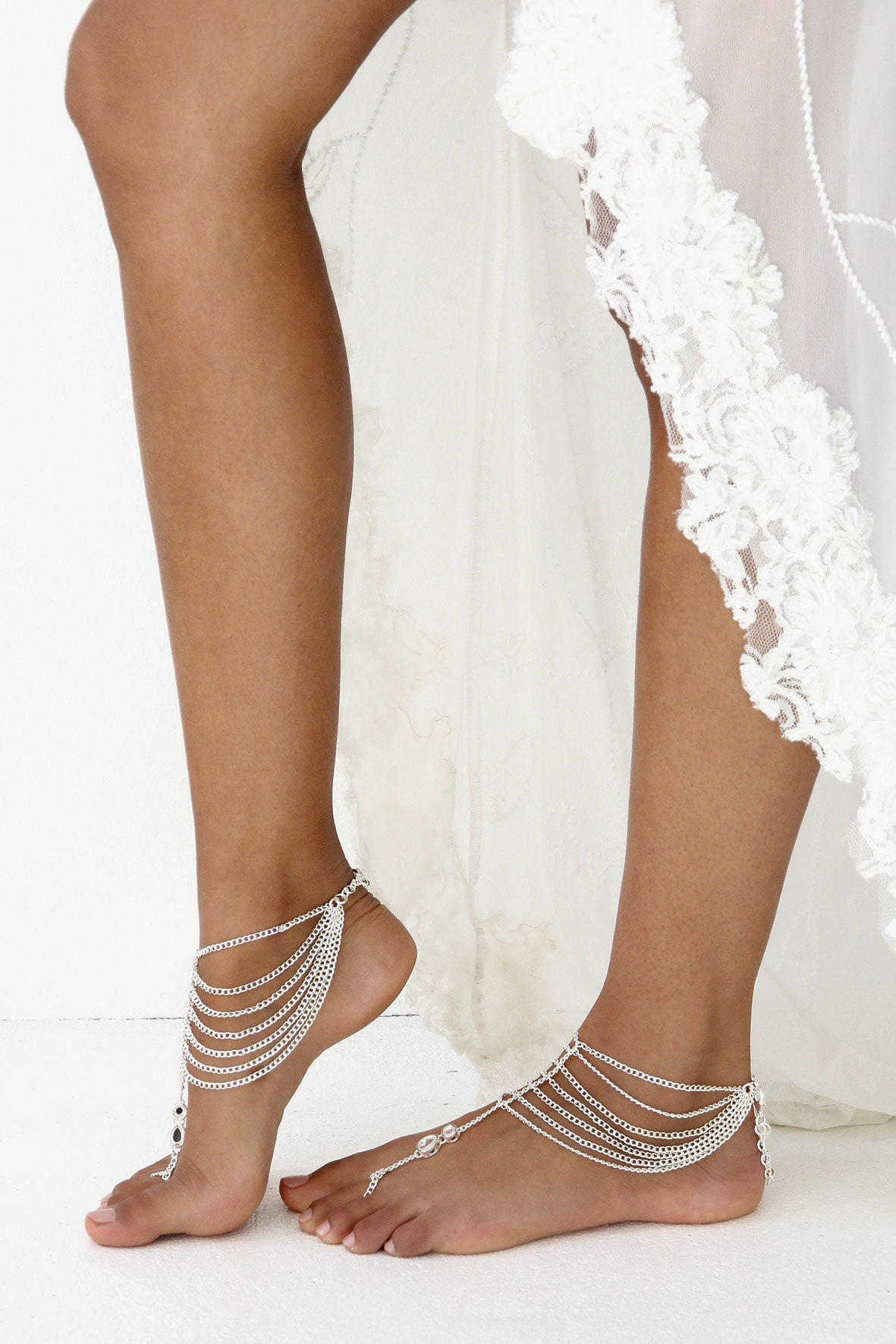 Silver Barefoot Sandals, Bohemian Bride, Beach Shoes, Bride, Beach Wedding, Bridal Shoes, Beach Wedding Shoes, Barefoot Shoes, Jewellery, Style: Cherish. 0d6d9b