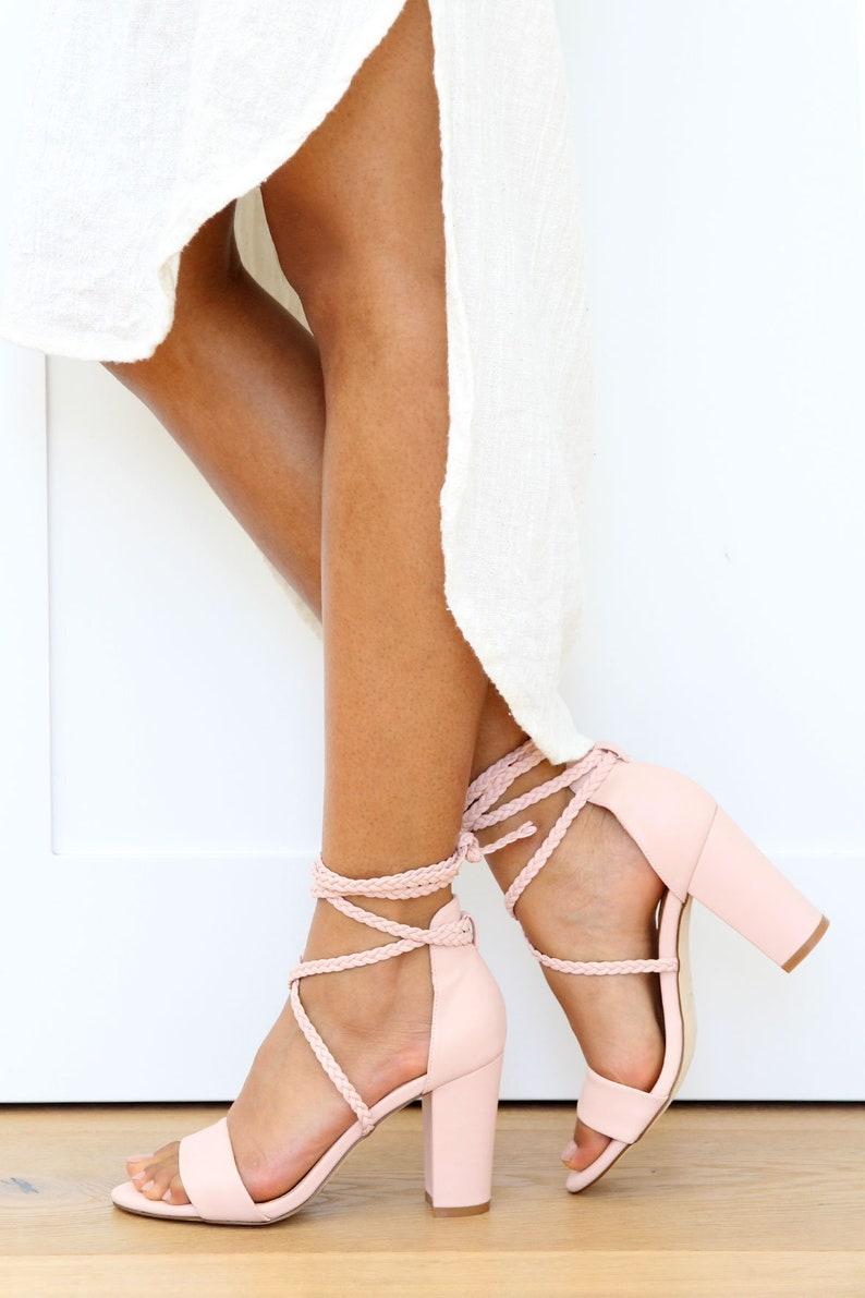 Chaussures dames Vegan cuir mariage sandales talons Vegan  7c3540711ea