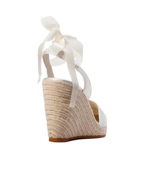 apparence élégante Livraison gratuite dans le monde entier site autorisé Espadrille Wedge, coin mariage, chaussure de mariée Ivoire dames, chaussure  de mariée designer, chaussures de mariage, mariage sur la plage, mariée ...