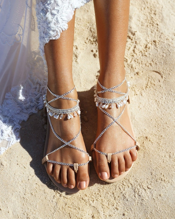 Silver wedding shoes, Silver sandals, silver bridal shoes, nude wedding sandal, nude leather sandal, nude wedding shoe. Mazi Silver.