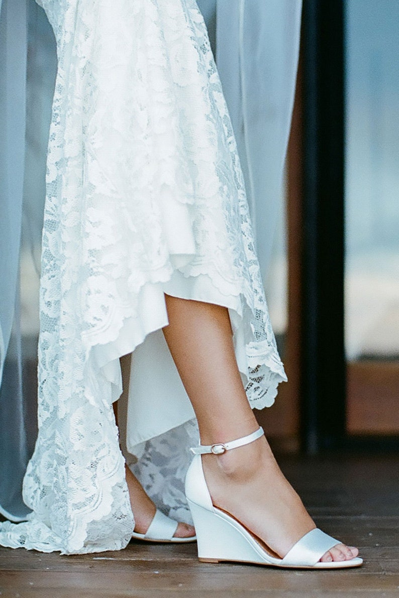 b4f5d777c1f Ivory bridal shoe, Bridal wedge, comfortable wedding shoes, classic leather  Bridal shoes, ivory wedding shoe, Low Heel Shoe: Sense Of Wonder