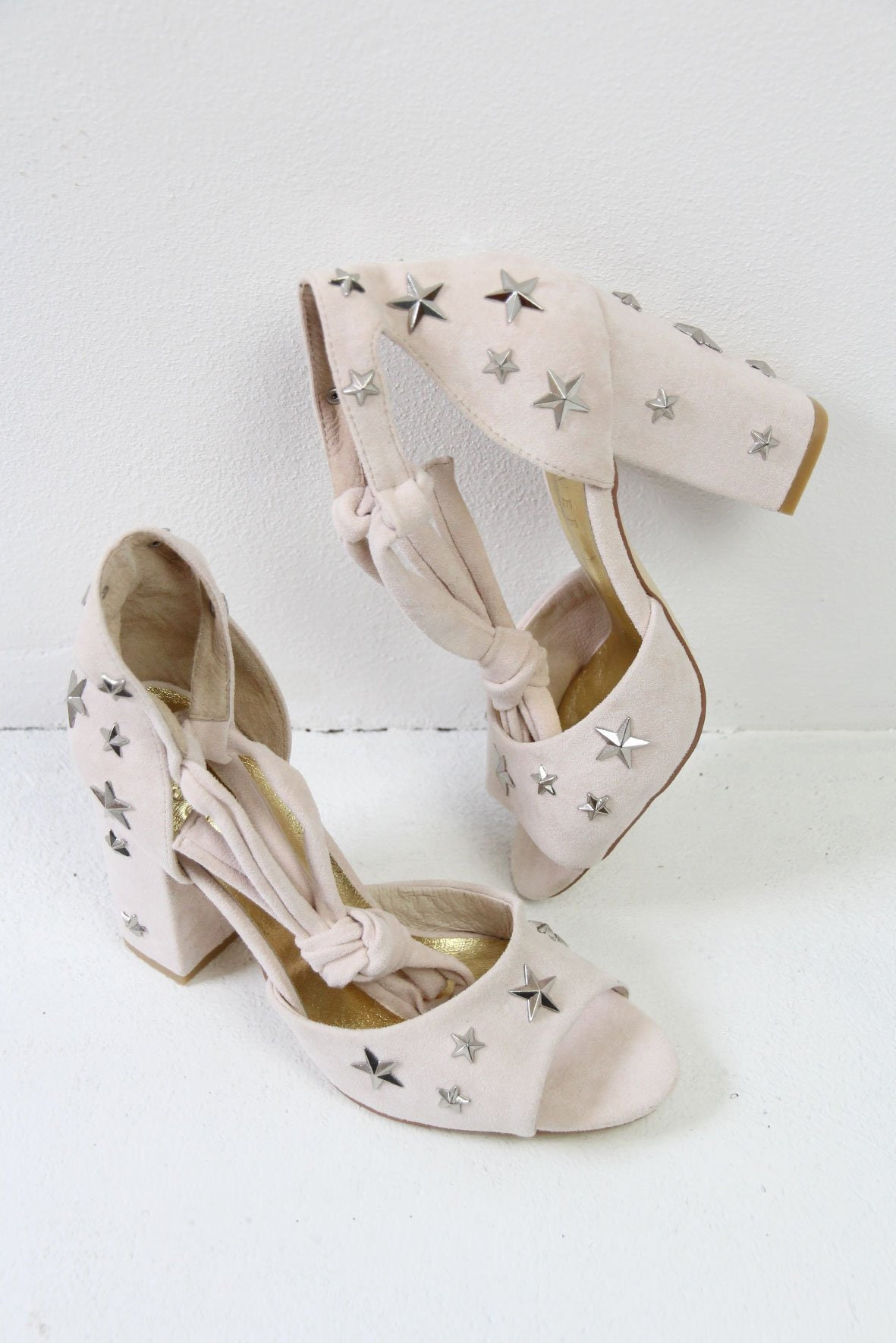 Star studded Star Sandals, Nude Wedding Sandals, Star studded shoes, Star heels, Star accessories, Unique shoes, Thick heeled shoes, wedding shoes. Stars 0c05a0