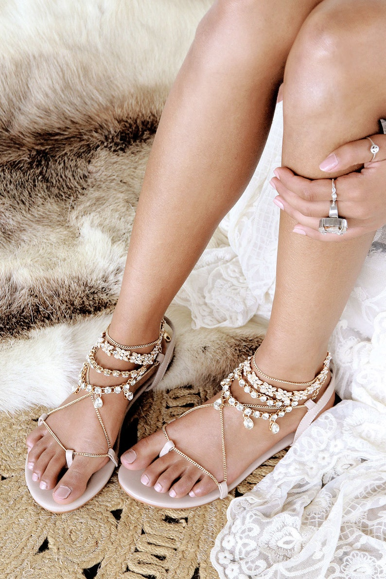 3cef033f1a34 Nude flat sandals gladiator sandal nude leather sandal gold