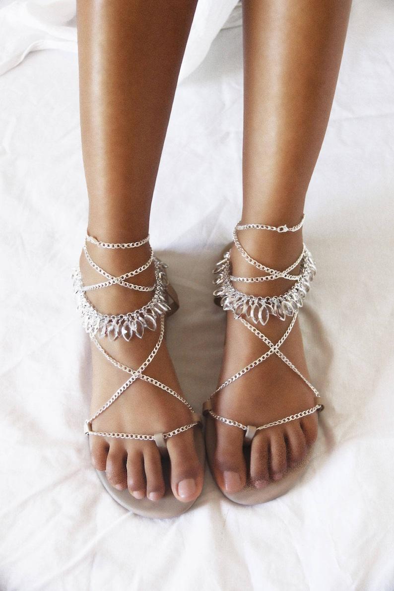 3b727ce8a4d9 Silver flat sandals gladiator sandal nude leather sandal