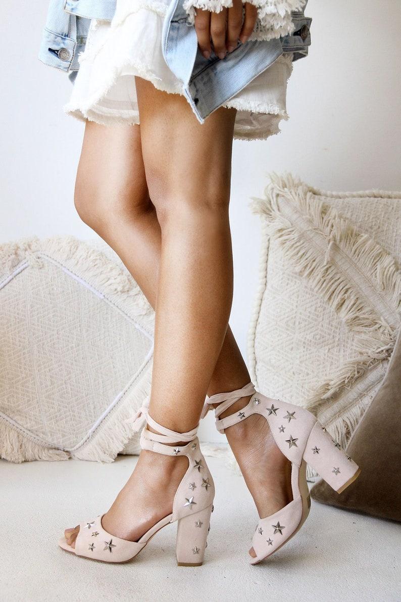 a614264eefb Star Sandals Wedding Sandals Star shoes Star heels Star