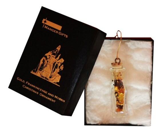 christmas ornament gold frankincense and myrrh - Gold Frankincense And Myrrh Christmas Gifts