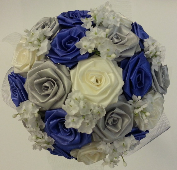 Making Your Own Wedding Flowers: Items Similar To CREATE YOUR OWN Ribbon Flower Bouquet