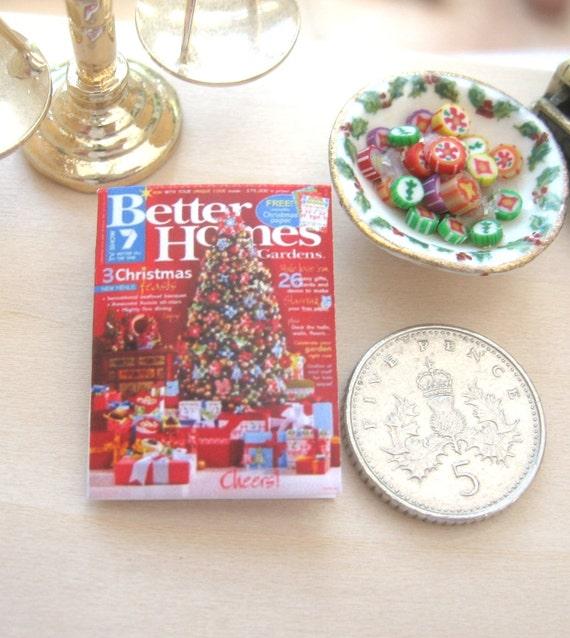 maison de poupée Noël magazine 12 échelle miniature journal
