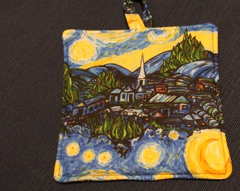 Starry Night Potholder