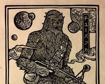 Chewbacca Block Print