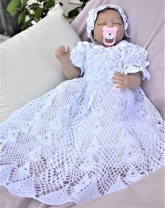 HVSC Baby Christening Short Gown Crochet Pattern Pattern Etsy Gorgeous Crochet Christening Gown Pattern