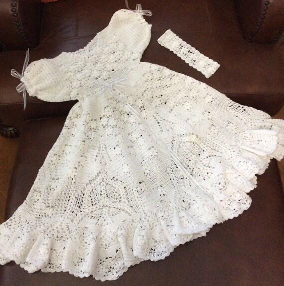 Crochet Field of flowers christening pattern. Blessing gown | Etsy