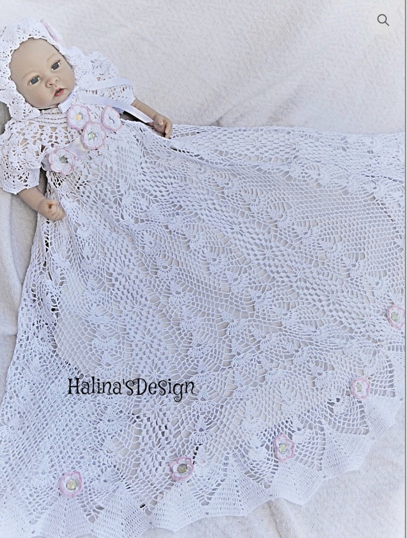 Antique Crochet Christening Gown Patterns Dacc