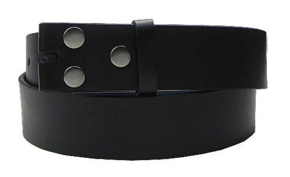 """1.5/"""" Bonded Leather belt with detachable snaps"""