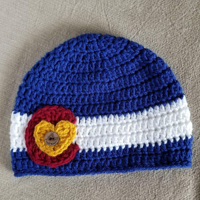 c9d37bcc47a CO state flag beanie Colorado beanie Colorado hat Colorado