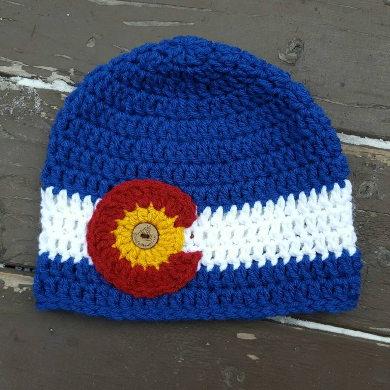 2f13bb0fd70 CO state flag beanie Colorado beanie Colorado hat