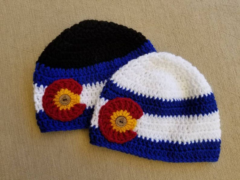 e0827b73134 CO state flag beanie Colorado beanie Colorado hat  Colorado
