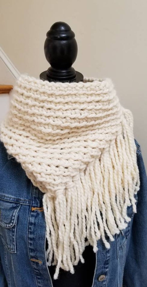 Cowl Fringe Cowl Winter Accessory Ladies Wool Blend Etsy