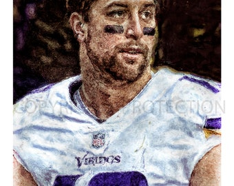 b5260e2303 Adam Thielen Minnesota Vikings Art Print, New & Rare, Limited to only 50  prints. Signed and Numbered by the artist!