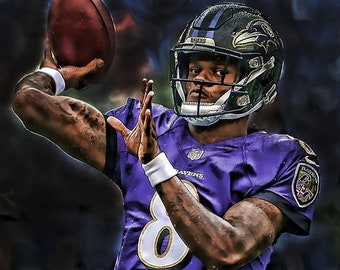 9bb63667c58 New Lamar Jackson Baltimore Ravens Art Print, New & Rare, Limited to only  50 prints. Signed and Numbered by the artist!