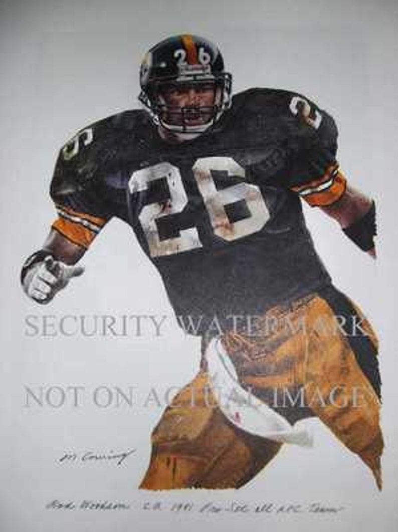 b937bee92 Rod Woodson HOF Pittsburgh Steelers Corning Print LE | Etsy
