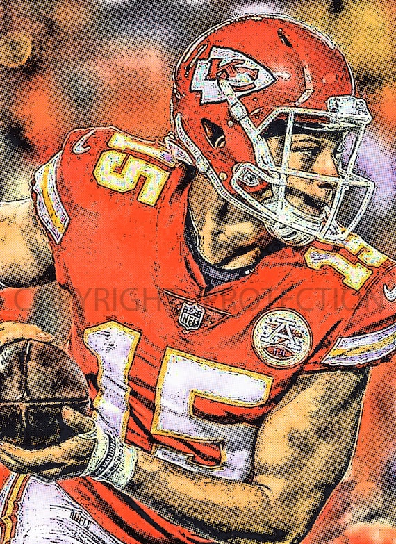 New Rare Patrick Mahomes Kansas City Chiefs Art Print Limited To Only 50 Prints Signed And Numbered By The Artist