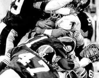 12x18 Steel Curtain '75 Pittsburgh Steelers Art LE 50