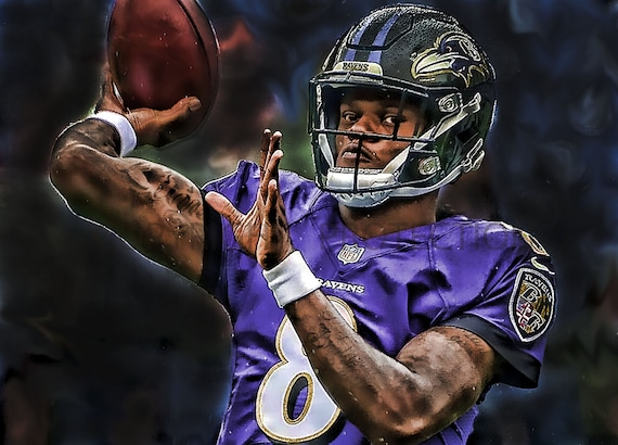 the latest 49e52 96188 New Lamar Jackson Baltimore Ravens Art Print, New & Rare, Limited to only  50 prints. Signed and Numbered by the artist!