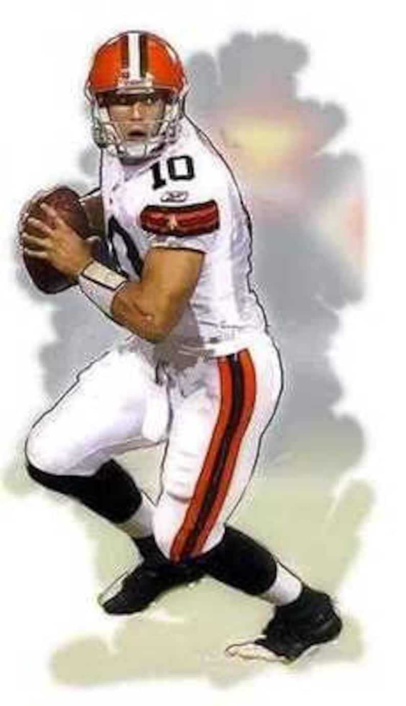 super popular 3d419 e9cbb New Brady Quinn Cleveland Browns Art Print only 50 exis
