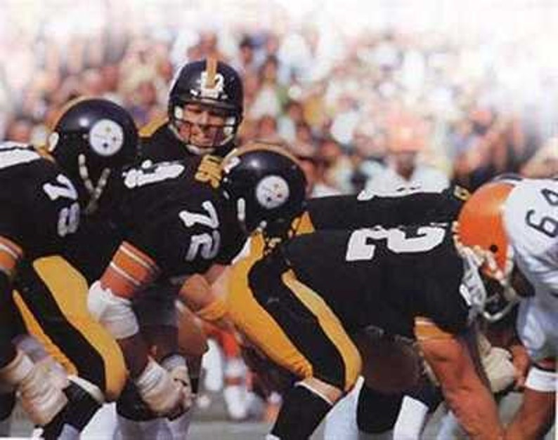 135eeec6e Pittsburgh Steelers Terry Bradshaw Rare Art 12 x 18