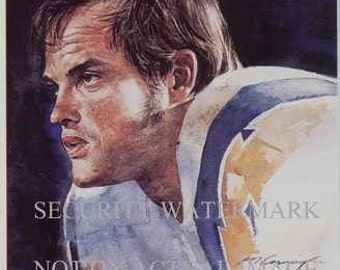Lance Allworth San Diego Chargers Corning Art Rare LE
