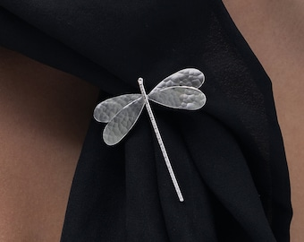Dragonfly brooch, dragonfly broach, sterling silver dragonfly pin, dragonfly jewelry, dragonfly gift for women, insect brooch, insect braoch