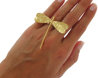 Dragonfly gift jewelry, statement ring, dragonfly ring, unique ring, big chunky ring, dragonfly jewelry