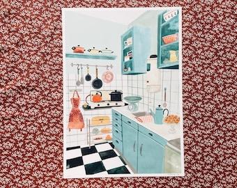 50's Kitchen A4 print
