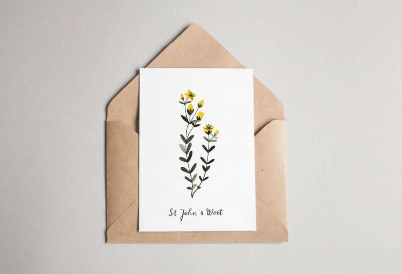 St John's Wort folded card image 0