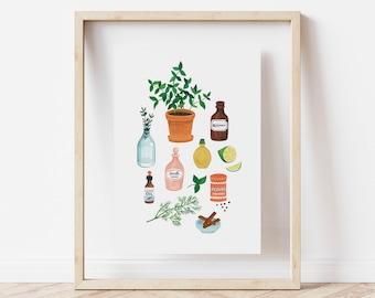 Essence Kitchen print - A4 size