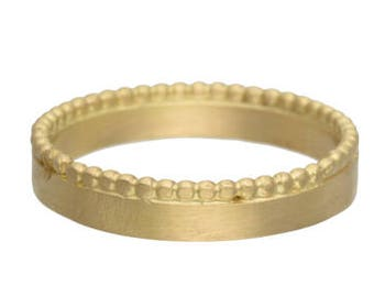 Wedding Band For Men, 18k Yellow Gold Bands, Simple Wedding Rings, His and Hers Rings Set, Matching Rings for Couples