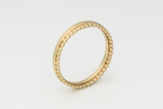 Gold Hochzeit Band 14 K Ehering Punkte Gold Ring Ehering Recycling 14k Gold Dünne Hochzeit Band