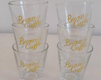 2516bcd295 Vintage Italian espresso shot glasses