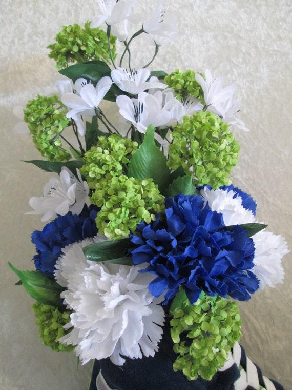 Silk Flower Arrangement For Seattle Seahawks Fan Lime Green Etsy