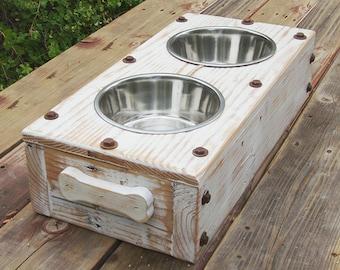 Dog Bowl Elevated Feeding Station