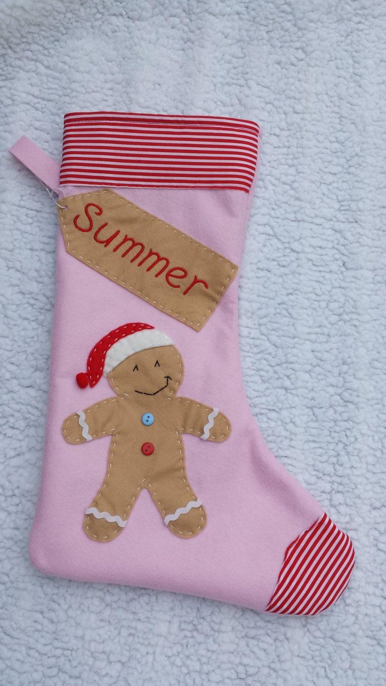New Handmade Personalised Christmas Stocking