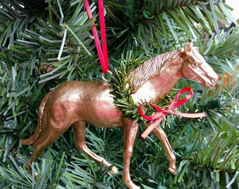 Gold Horse Christmas Ornament