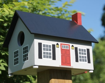 Cape Cod Bird House (Gray)