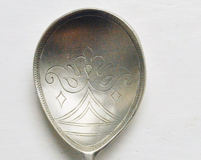Antique Crowned HR Pewter Spoon 18th Century English
