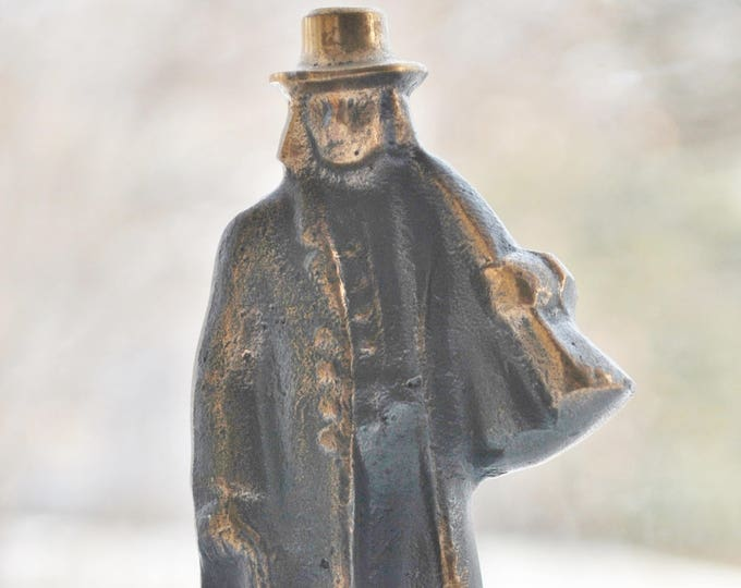 Swedish Art Metal Bronze Folk Figure Hunter Borås