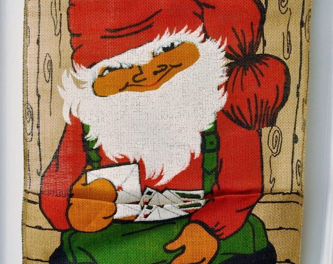 Swedish Mid Century Tomte Santa Christmas Card Holder Wall Decoration