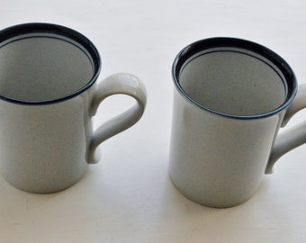 Dansk Blue Mist Pair of Coffee Mugs Niels Refsgaard