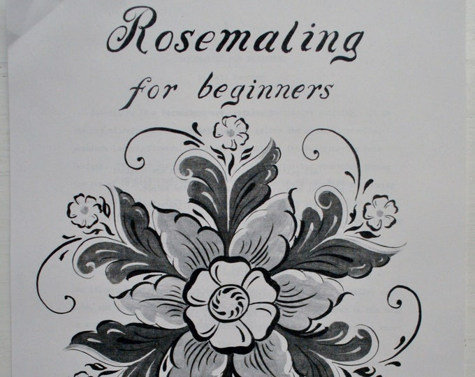Rosemaling for Beginners 23 Page Packet by Gail Sandeen
